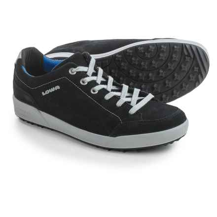 Lowa Palermo Suede Sneakers (For Men) in Black/Blue - Closeouts
