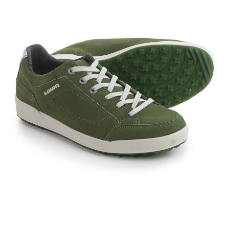 Lowa Palermo Suede Sneakers (For Men) in Moss Green
