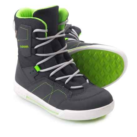 Lowa Raik Gore-Tex® Mid Shoes - Waterproof (For Little Kids) in Navy/Lime - Closeouts