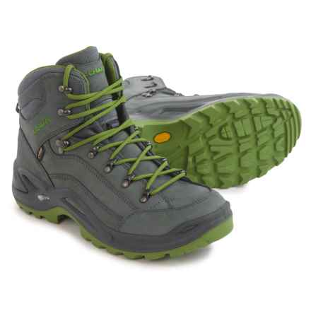 Lowa Renegade Gore-Tex® Mid Boots - Waterproof (For Men) in Asphalt/Green - Closeouts