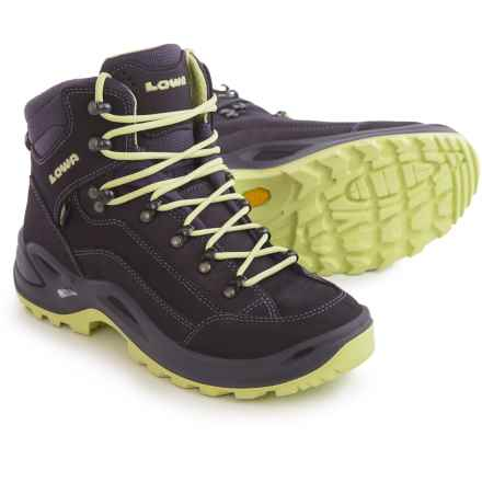 Lowa Renegade Gore-Tex® Mid Hiking Boots - Waterproof (For Women) in Prune/Mint - Closeouts