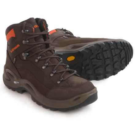 Lowa Renegade Gore-Tex® Mid Hiking Boots - Waterproof (For Women) in Slate/Orange - Closeouts