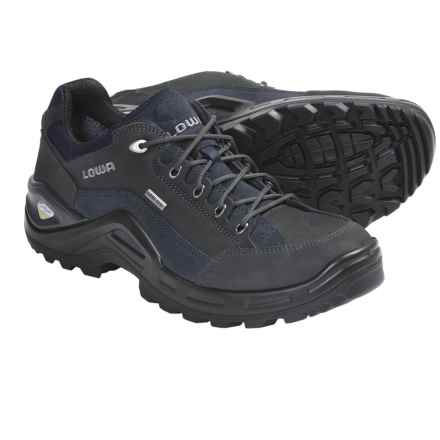 Lowa Renegade II Gore-Tex® Lo Hiking Shoes - Waterproof (For Men) in Dark Grey/Navy - Closeouts