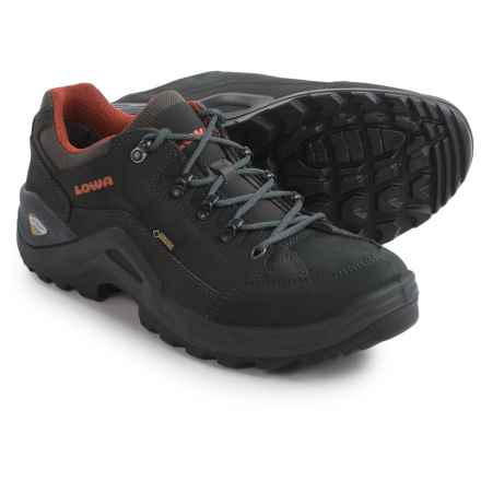 Lowa Renegade II Gore-Tex® Lo Hiking Shoes - Waterproof (For Men) in Grey/Rust - Closeouts