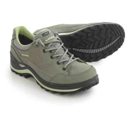 Lowa Renegade III Gore-Tex® Lo Hiking Shoes - Waterproof (For Women) in Gray/Mint - Closeouts