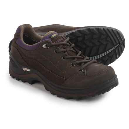 Lowa Renegade III Gore-Tex® Lo Hiking Shoes - Waterproof (For Women) in Slate/Eggplant - Closeouts