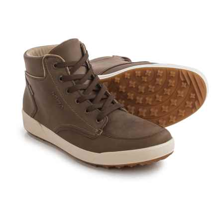Lowa Richmond Gore-Tex® QC Sneakers - Waterproof, Waxed Nubuck (For Men) in Brown/Gold - Closeouts