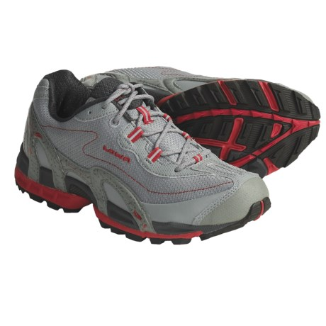 Lowa S-Cope Trail Running Shoes (For Women) in Light Grey/Red