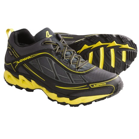 Lowa S-Crown Gore-Tex® Trail Running Shoes - Waterproof (For Men) in Anthracite/Yellow