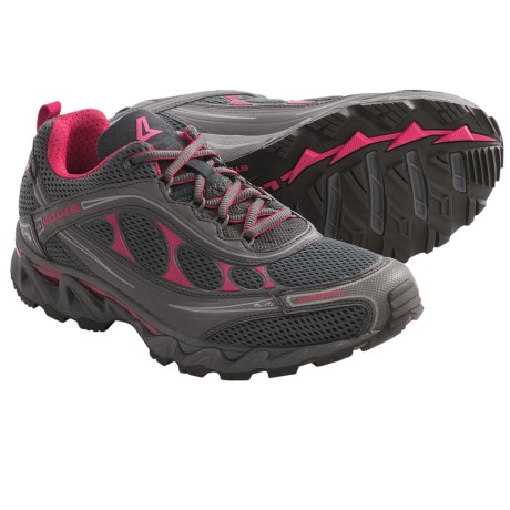 Lowa S-Crown Mesh Trail Running Shoes (For Women) in Anthracite/Fuchsia
