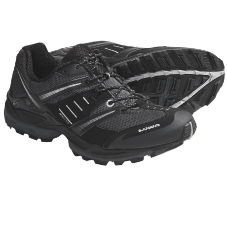 Lowa S-Cruise Mesh Trail Running Shoes (For Men) in Black/Silver