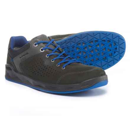 Lowa San Francisco Gore-Tex® Surround Shoes - Waterproof, Leather (For Men) in Anthracite/Blue - Closeouts