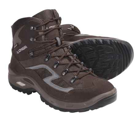 Lowa Scorpio Gore-Tex® Mid Hiking Boots - Waterproof (For Men) in Brown/Grey - Closeouts