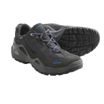 Lowa Sirkos Gore-Tex® XCR® Lo Trail Shoes - Waterproof (For Men) in Grey/Blue - Closeouts