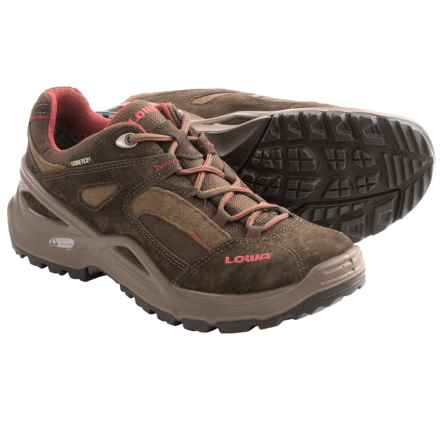 Lowa Sirkos Gore-Tex® XCR® Lo Trail Shoes - Waterproof (For Women) in Brown/Burgundy - Closeouts