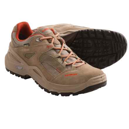 Lowa Sirkos Gore-Tex® XCR® Lo Trail Shoes - Waterproof (For Women) in Taupe/Terracotta - Closeouts