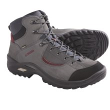 Lowa Tempest Mid Gore-Tex® Hiking Boots - Waterproof (For Men) in Dark Grey/Red - Closeouts