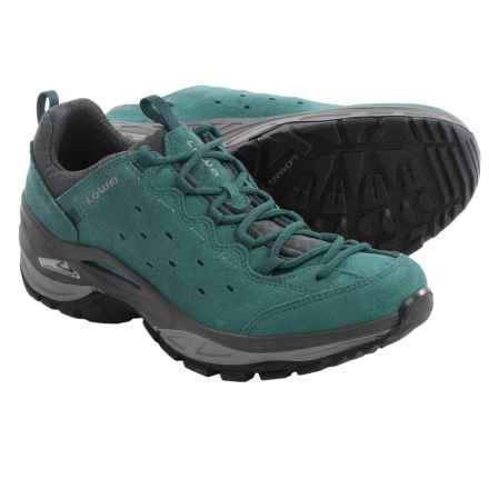 Lowa Tempest Vent Trail Shoes - Suede (For Women) in Petrol/Grey - Closeouts
