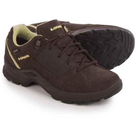 Lowa Terrios Gore-Tex® Lo Hiking Shoes - Waterproof (For Women) in Dark Brown/Mint - Closeouts