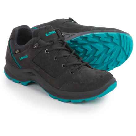 Lowa Terrios Gore-Tex® Lo Hiking Shoes - Waterproof (For Women) in Graphite/Turquoise - Closeouts