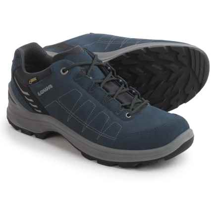 Lowa Tiago Gore-Tex Lo Hiking Shoes - Waterproof (For Men) in Denim/Grey - Closeouts