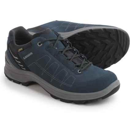 Lowa Tiago Gore-Tex Lo Hiking Shoes - Waterproof (For Men) in Denim/Grey - Closeouts