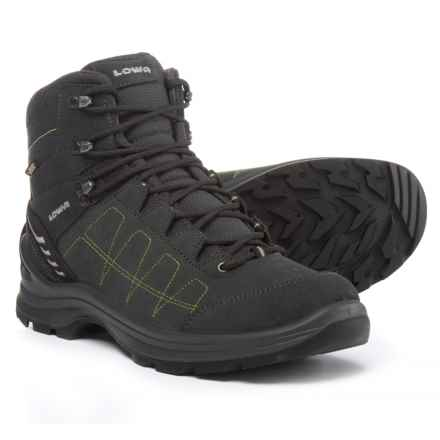 Lowa Tiago Gore-Tex® Mid Hiking Boots - Waterproof, Nubuck (For Men) in Anthracite/Lime - Closeouts
