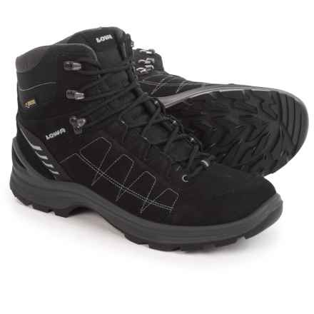 Lowa Tiago Gore-Tex® Mid Hiking Boots - Waterproof, Nubuck (For Men) in Black/Gray - Closeouts