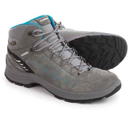 Lowa Tiago Gore-Tex® QC Hiking Boots - Waterproof, Suede (For Women) in Gray/Turquoise - Closeouts