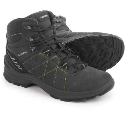 Lowa Tiago Mid Hiking Boots - Leather (For Men) in Anthracite/Lime - Closeouts
