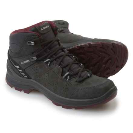 Lowa Tiago QC Hiking Boots - Leather (For Women) in Anthracite/Berry - Closeouts