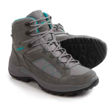 Lowa Toledo Gore-Tex® Hiking Boots - Waterproof (For Women) in Grey/Turquoise - Closeouts
