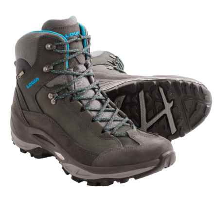 Lowa Toro Gore-Tex® XCR® Mid Hiking Boots (For Women) in Anthracite/Turquoise - Closeouts