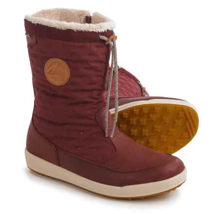 Lowa Valloire Gore-Tex® Mid Winter Boots - Waterproof, Insulated (For Women) in Bordeaux/Dots - Closeouts