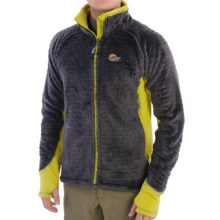 Lowe Alpine Araya Fleece Jacket (For Men) in Anthracite/Zest - Closeouts