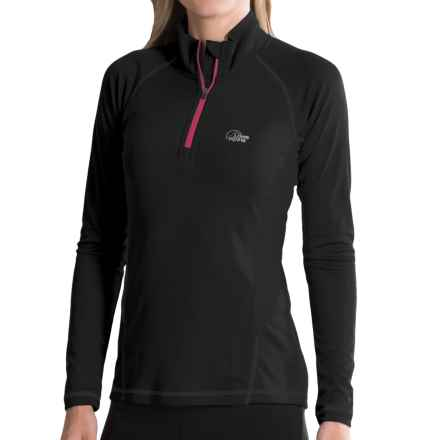 Lowe Alpine DRYflo® 150 Base Layer Top - Zip Neck, Long Sleeve (For Women) in Black - Closeouts