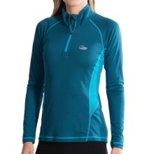 Lowe Alpine DRYflo® 150 Base Layer Top - Zip Neck, Long Sleeve (For Women) in Teal/Bluejay - Closeouts