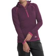Lowe Alpine DryFlo® Expedition Fleece Hoodie - Zip Neck (For Women) in Dark Raspberry - Closeouts