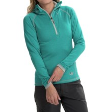 Lowe Alpine DryFlo® Expedition Fleece Hoodie - Zip Neck (For Women) in Persian - Closeouts