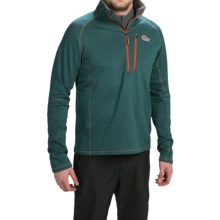 Lowe Alpine DryFlo® Expedition Fleece Pullover Jacket - Zip Neck (For Men) in Dark Jasper - Closeouts