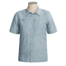 Lowe Alpine Escalante Shirt - Short Sleeve (For Men) in Light Blue Grey - Closeouts