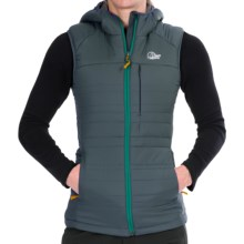 Lowe Alpine Glacier Point Hooded Vest - Insulated (For Women) in Dark Slate/Persian - Closeouts