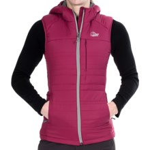 Lowe Alpine Glacier Point Hooded Vest - Insulated (For Women) in Rosehip/Ash - Closeouts