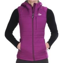 Lowe Alpine Glacier Point Hooded Vest - Insulated (For Women) in Wineberry - Closeouts