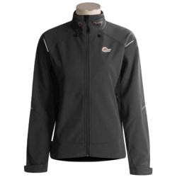 Lowe Alpine Glacion Pro Jacket - Polartec® Windbloc® (For Women) in Black/Black