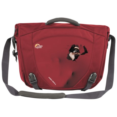 Lowe Alpine High Ball Messenger Bag in Eye/Chili Red