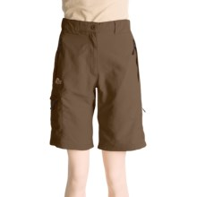 Lowe Alpine High Trail Shorts - UPF 40 (For Women) in Major Brown - Closeouts