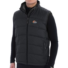 Lowe Alpine Ladakh Down Gilet Vest - 650 Fill Power (For Men) in Black/Mallard - Closeouts