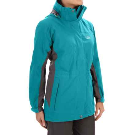 Lowe Alpine Lost Valley Soft Shell Jacket - Waterproof (For Women) in Dark Peacock/Slate - Closeouts