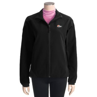 Lowe Alpine Lynx Jacket - Soft Shell (For Women) in Black/Black